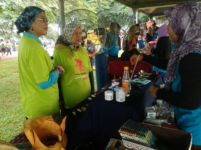 The Malay Heritage Museum booth visited by the VIPs during the carnival